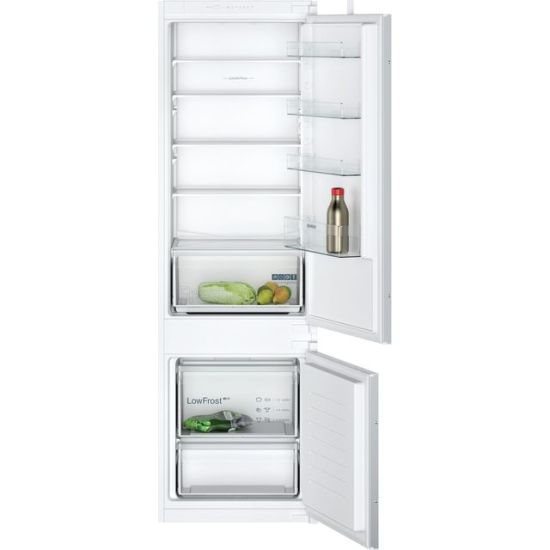 Siemens IQ-100 KI87VNSF0G Integrated 70/30 Fridge Freezer with Sliding Door Fixing Kit - White - A+ Rated