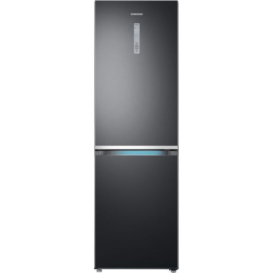 Samsung RB38R7817B1 70/30 Frost Free Fridge Freezer - Black Steel - A++ Rated
