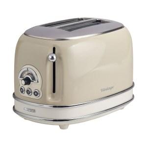 Ariete AR5513 Vintage 2-Slice Toaster - Cream