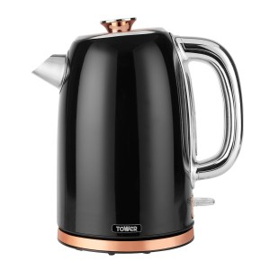 Tower T10023 1.7L 3000W Stainless Steel Kettle - Black and Rose Gold