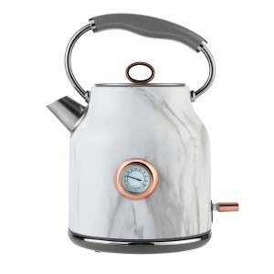 Tower Bottega T10020WMRG Rapid Boil 3KW Stainless Steel 1.7L Traditional Kettle - Marble and Rose Gold