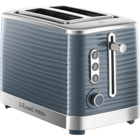 Russell Hobbs 24373 Inspire 1050W Wide Slot 2-Slice Toaster - Grey