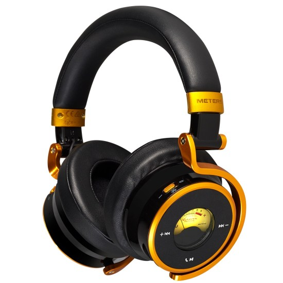 Meters Connect Over Ear Bluetooth Active Noise Cancelling Headphones - Black & Gold