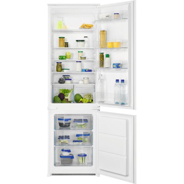 Zanussi ZNLN18FS1 Integrated 70/30 Fridge Freezer with Sliding Door Fixing Kit - White - A+ Rated