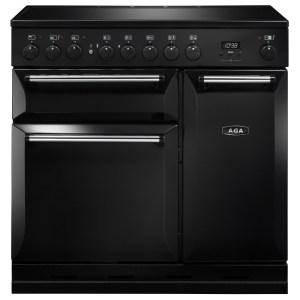 AGA Masterchef MDX90EIBLK Masterchef Deluxe 90cm Induction Range Cooker 121800 - BLACK
