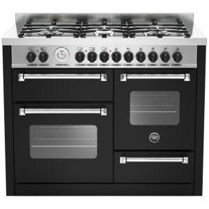 Bertazzoni MAS110-6-MFE-T-NEE 110cm Master Series XG Dual Fuel Range Cooker - BLACK