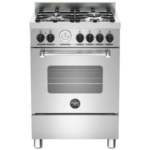 Bertazzoni MAS60-4-MFE-S-XE 60cm Master Freestanding Dual Fuel Cooker - STAINLESS STEEL