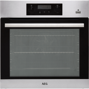 AEG BPS355020M Built In Electric Single Oven with added Steam Function - Stainless Steel - A+ Rated