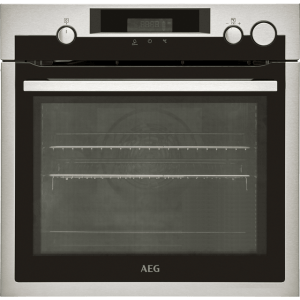 AEG BSE577221M Built In Electric Single Oven with added Steam Function - Stainless Steel - A+ Rated