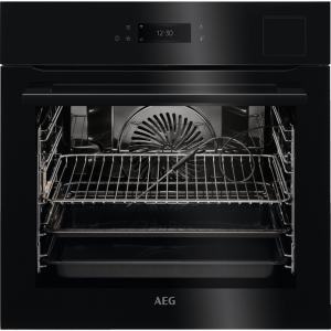 AEG BSK798380B Built In Electric Single Oven with added Steam Function - Black - A++ Rated