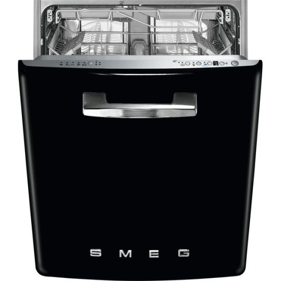 Smeg DI13FAB3BL Fully Integrated Standard Dishwasher - Black Control Panel with Fixed Door Fixing Kit - A+++ Rated