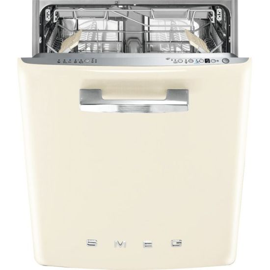 Smeg DI13FAB3CR Fully Integrated Standard Dishwasher - Cream Control Panel with Fixed Door Fixing Kit - A+++ Rated