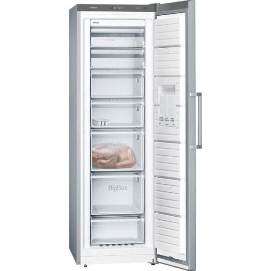 Siemens IQ-300 GS36NVIFV Frost Free Upright Freezer - Stainless Steel Effect - A++ Rated