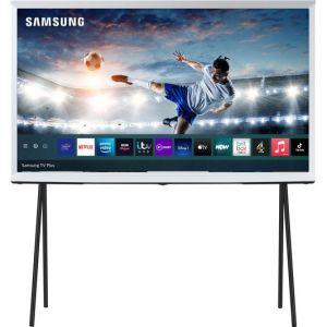 SAMSUNG The Serif QE43LS01TAUXXU  Smart 4K Ultra HD HDR QLED TV with Bixby, Alexa & Google Assistant - Cloud White, White