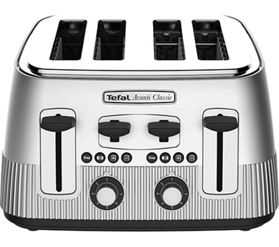 TEFAL Avanti Classic TT780E40 4-Slice Toaster - Silver, Silver