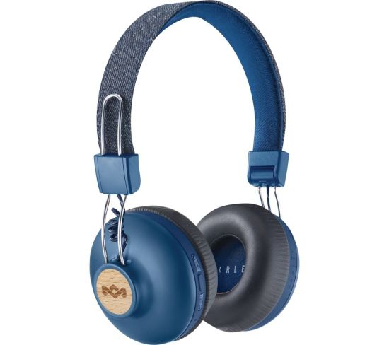 HOUSE OF MARLEY Positive Vibration 2.0 Wireless Bluetooth Headphones - Blue, Blue