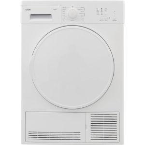 LOGIK LCD8W18 8 kg Condenser Tumble Dryer - White, White