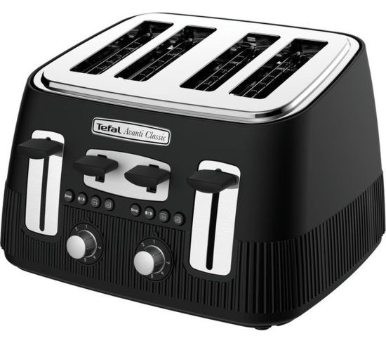 TEFAL Avanti Classic TT780N40 4-Slice Toaster - Matte Black, Black