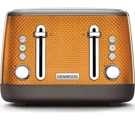 KENWOOD Mesmerine TFM810OR 4-Slice Toaster - Orange, Orange
