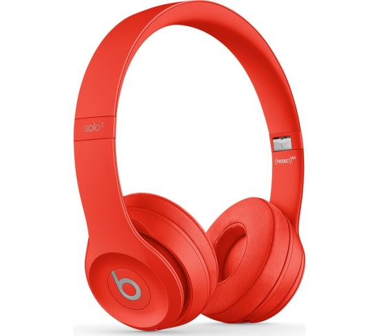 BEATS Solo 3 Wireless Bluetooth Headphones - Red, Red
