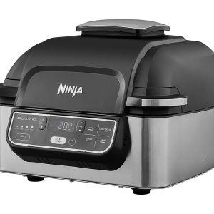 NINJA Foodi AG301UK Health Grill & Air Fryer - Black & Brushed Steel, Brushed Steel