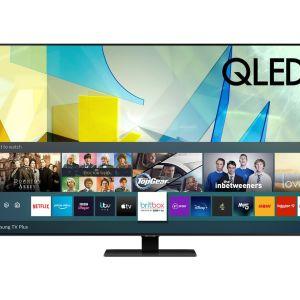 """75"""" SAMSUNG QE75Q80TATXXU  Smart 4K Ultra HD HDR QLED TV with Bixby, Alexa & Google Assistant"""