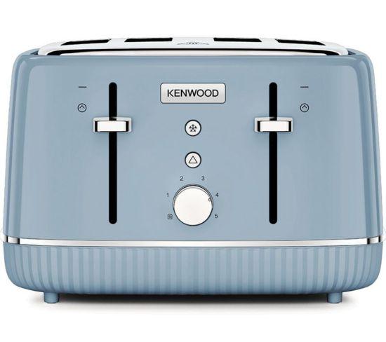 KENWOOD Elegancy TFP10.A0BG 4-Slice Toaster - Blue, Blue