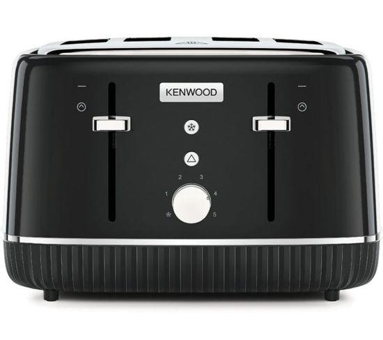 KENWOOD Elegancy TFP10.A0BK 4-Slice Toaster - Black, Black