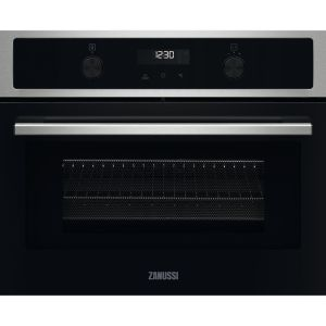 ZANUSSI ZVENM7X1 Compact Electric Built-in Combination Microwave - Black & Stainless Steel, Stainless Steel