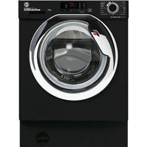 HOOVER H-Wash 300 HBWS48D1ACBE Integrated 8 kg 1400 Spin Washing Machine – Black, Black