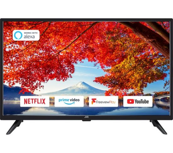 """32"""" JVC LT-32C605  Smart HD Ready LED TV with Built-in DVD Player"""