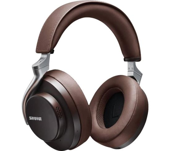 SHURE Aonic 50 SBH2350-BR-EFS Wireless Bluetooth Noise-Cancelling Headphones - Brown, Brown