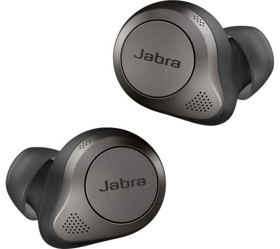 JABRA Elite 85t Wireless Bluetooth Noise-Cancelling Earbuds - Titanium Black, Titanium