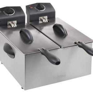 TRISTAR FR-6937 Double Deep Fryer - Silver, Silver