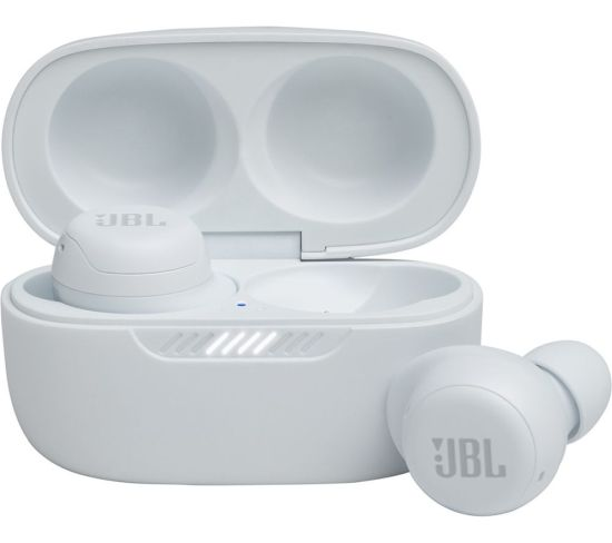 JBL Live Free NC TWS Wireless Bluetooth Noise-Cancelling Earbuds - White, White