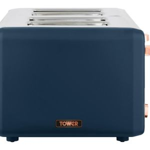 TOWER Cavaletto T20051MNB 4-Slice Toaster - Blue & Rose Gold, Blue