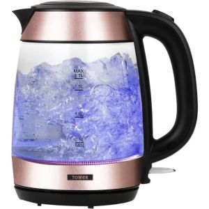 TOWER T10040RG Glass Jug Kettle - Rose Gold, Gold
