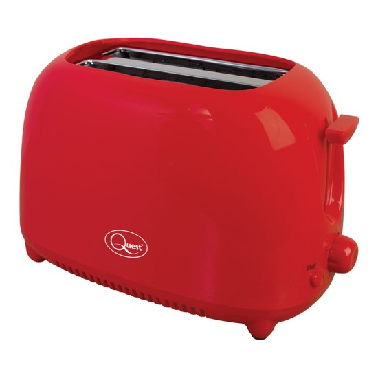 Quest 34290 750W 2-Slice Toaster - Red
