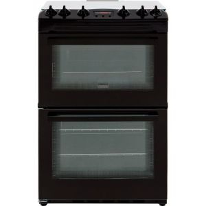 Zanussi ZCG63250BA 60cm Gas Cooker with Full Width Electric Grill - Black - A/A Rated