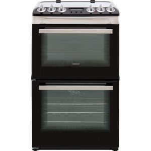 Zanussi ZCV46250XA 55cm Electric Cooker with Ceramic Hob - Stainless Steel - A/A Rated
