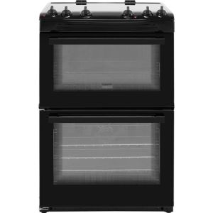 Zanussi ZCV66050BA 60cm Electric Cooker with Ceramic Hob - Black - A/A Rated