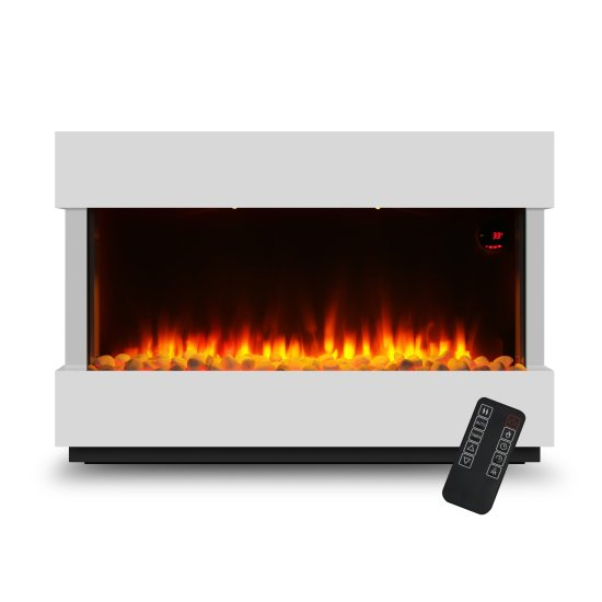 """Devola 2kW Electric Fireplace Suite White 580x928mm - DVWFL2000WH Devola Heating Devola 2kW Electric Fireplace Suite White 580x928mm - DVWFL2000WH Shop The Very Best Air Con Deals Online at <a href=""""http://Appliance-Deals.com"""">Appliance-Deals.com</a>"""