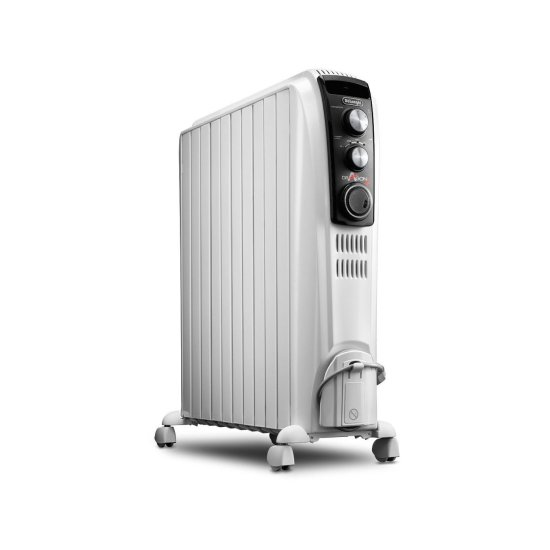 """DeLonghi Dragon 2.5kW Oil Filled Radiator White TRD41025T Delonghi Heating DeLonghi Dragon 2.5kW Oil Filled Radiator White TRD41025T Shop The Very Best Air Con Deals Online at <a href=""""http://Appliance-Deals.com"""">Appliance-Deals.com</a>"""