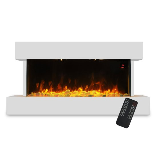 """Devola 2kW Electric Fireplace Suite White 558x1170mm - DVWFS2000WH Devola Heating Devola 2kW Electric Fireplace Suite White 558x1170mm - DVWFS2000WH Shop The Very Best Air Con Deals Online at <a href=""""http://Appliance-Deals.com"""">Appliance-Deals.com</a>"""