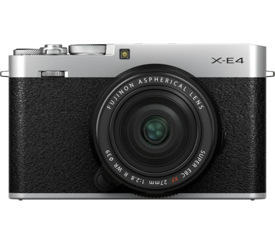 """FUJIFILM X-E4 Mirrorless Camera with FUJINON XF 27 mm f/2.8 R WR Lens - Silver, Silver Currys Cameras FUJIFILM X-E4 Mirrorless Camera with FUJINON XF 27 mm f/2.8 R WR Lens - Silver, Silver Shop The Very Best Deals Online at <a href=""""http://Appliance-Deals.com"""">Appliance-Deals.com</a> <a href=""""https://www.awin1.com/cread.php?awinmid=19526&awinaffid=792795&ued=https%3A%2F%2Fao.com""""><img class="""" wp-image-9780000159235 aligncenter"""" src=""""https://appliance-deals.com/wp-content/uploads/2021/02/ao-new.jpg"""" alt=""""Appliance Deals"""" width=""""112"""" height=""""112"""" /></a> <a href=""""https://www.awin1.com/cread.php?awinmid=19526&awinaffid=792795&ued=https%3A%2F%2Fao.com""""><img class="""" wp-image-9780000159235 aligncenter"""" src=""""https://appliance-deals.com/wp-content/uploads/2021/03/curryspcworld_500x500_thumb.png"""" alt=""""Appliance Deals"""" width=""""112"""" height=""""112"""" /></a>"""