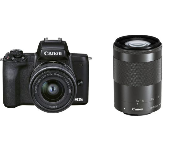 """CANON EOS M50 Mark II Mirrorless Camera with EF-M 15-45 mm f/3.5-6.3 IS STM & 55-200 mm f/4.5-6.3 IS STM Lens Currys Cameras CANON EOS M50 Mark II Mirrorless Camera with EF-M 15-45 mm f/3.5-6.3 IS STM & 55-200 mm f/4.5-6.3 IS STM Lens Shop The Very Best Deals Online at <a href=""""http://Appliance-Deals.com"""">Appliance-Deals.com</a> <a href=""""https://www.awin1.com/cread.php?awinmid=19526&awinaffid=792795&ued=https%3A%2F%2Fao.com""""><img class="""" wp-image-9780000159235 aligncenter"""" src=""""https://appliance-deals.com/wp-content/uploads/2021/02/ao-new.jpg"""" alt=""""Appliance Deals"""" width=""""112"""" height=""""112"""" /></a> <a href=""""https://www.awin1.com/cread.php?awinmid=19526&awinaffid=792795&ued=https%3A%2F%2Fao.com""""><img class="""" wp-image-9780000159235 aligncenter"""" src=""""https://appliance-deals.com/wp-content/uploads/2021/03/curryspcworld_500x500_thumb.png"""" alt=""""Appliance Deals"""" width=""""112"""" height=""""112"""" /></a>"""
