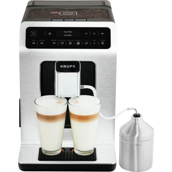 """Krups Evidence EA891D27 Bean to Cup Coffee Machine - Stainless Steel / Black AO Bean To Cup Krups Evidence EA891D27 Bean to Cup Coffee Machine - Stainless Steel / Black Shop The Very Best Small Appliance Deals Online at <a href=""""http://Appliance-Deals.com"""">Appliance-Deals.com</a> <a href=""""https://www.awin1.com/cread.php?awinmid=19526&awinaffid=792795&ued=https://ao.com""""><img class="""" wp-image-9780000159235 aligncenter"""" src=""""https://appliance-deals.com/wp-content/uploads/2021/02/ao-new.jpg"""" alt="""" Small Appliance Deals"""" width=""""112"""" height=""""112"""" /></a>"""