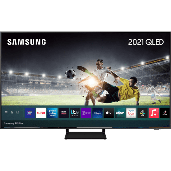 """Samsung QLED QE65Q70AA 65"""" Smart 4K Ultra HD TV With 100% Colour Volume, With Quantum Processor 4K and Apple TV App AO Samsung TV Samsung QLED QE65Q70AA 65"""" Smart 4K Ultra HD TV With 100% Colour Volume, With Quantum Processor 4K and Apple TV App Shop The Very Best TV Deals Online with Fast Delivery and Amazing Offers at <a href=""""http://Appliance-Deals.com"""">Appliance-Deals.com</a> <a href=""""https://www.awin1.com/cread.php?awinmid=1599&awinaffid=792795&ued=https%3A%2F%2Fcurrys.co.uk""""><img class="""" wp-image-9780000159235 aligncenter"""" src=""""https://appliance-deals.com/wp-content/uploads/2021/03/curryspcworld_500x500_thumb.png"""" alt=""""Appliance Deals"""" width=""""112"""" height=""""112"""" /></a> <a href=""""https://www.awin1.com/cread.php?awinmid=19526&awinaffid=792795&ued=https%3A%2F%2Fao.com""""><img class="""" wp-image-9780000159235 aligncenter"""" src=""""https://appliance-deals.com/wp-content/uploads/2021/02/ao-new.jpg"""" alt=""""Appliance Deals"""" width=""""112"""" height=""""112"""" /></a>"""