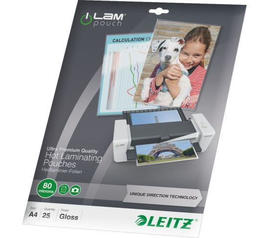 """LEITZ iLAM 80 Micron A4 Laminating Pouches - 25 Pack Appliance Deals LEITZ iLAM 80 Micron A4 Laminating Pouches - 25 Pack Shop & Save Today With The Best Appliance Deals Online at <a href=""""http://Appliance-Deals.com"""">Appliance-Deals.com</a>"""