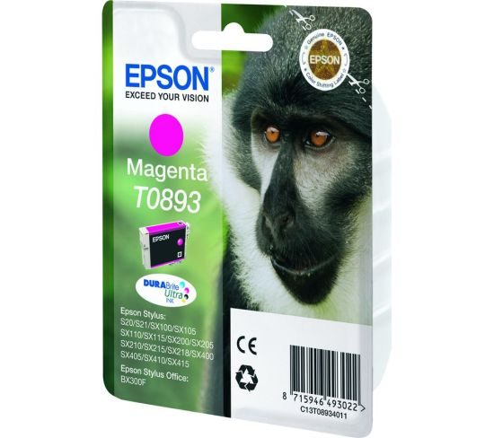 """EPSON Monkey T0893 Magenta Ink Cartridge, Magenta Appliance Deals EPSON Monkey T0893 Magenta Ink Cartridge, Magenta Shop & Save Today With The Best Appliance Deals Online at <a href=""""http://Appliance-Deals.com"""">Appliance-Deals.com</a>"""